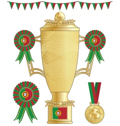 Portugal football trophy vector