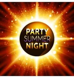Flyer template for summer night party vector