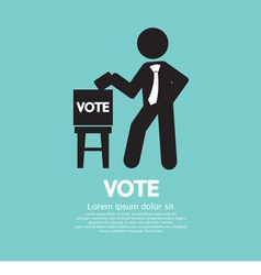 Vote ballot black symbol vector