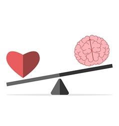 Balance between heart and brain vector