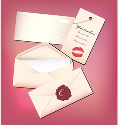 Valentine envelop and card vector