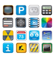 Apps icon set three vector