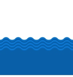 Blue sea wave seamless background vector