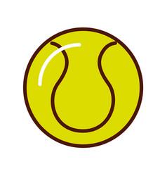 Brightly tennis ball cartoon vector
