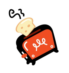 Cartoon retro toaster vector image vector image