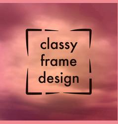 Classy frame design vector