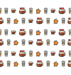 coffee objects vector image