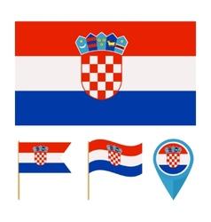 Croatia country flag vector image vector image