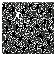 Cute seamless overlapping people pattern vector