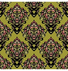 ethnic damask seamless pattern background vector image vector image