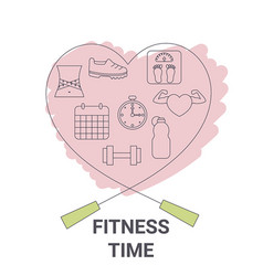 fitness time concept fitness time concept vector image vector image