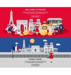 France Banner Set vector image vector image