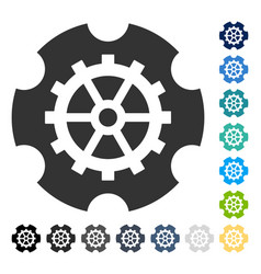 Gearwheel icon vector