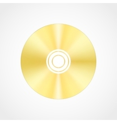 Gold blank compact disc vector