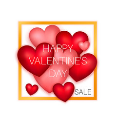 Happy valentines day sale poster vector