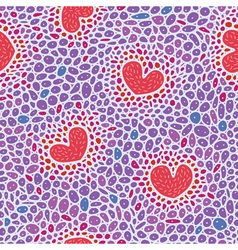 Hearts cell structure vector image vector image