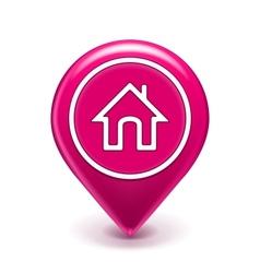 Home location icon vector