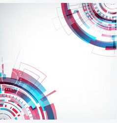 innovative virtual abstract future template vector image