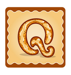 Letter q candies vector