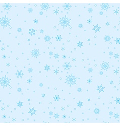 Light blue seamless pattern with blue snowflakes vector