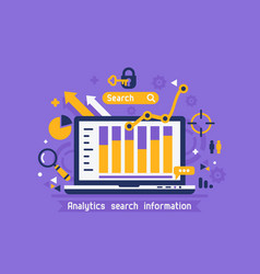 online analytics search information vector image vector image