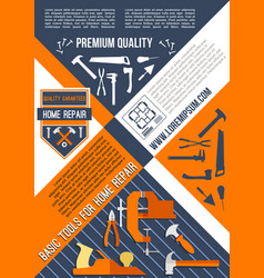 Poster for house or home repair vector