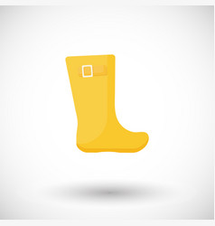 rainboots flat icon vector image