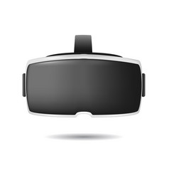 realistic detailed 3d virtual reality headset box vector image vector image