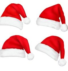 santa hats vector image vector image
