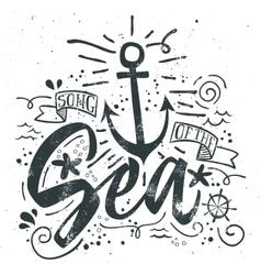 Sea print t-shirts for summer vector