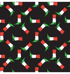Seamless pattern with Italian flag colorsboot vector image vector image