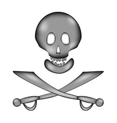 Skull and bones danger sign sign icon vector
