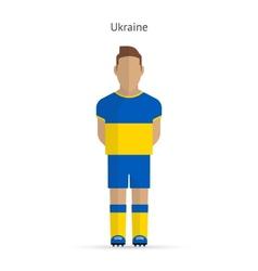 Ukraine football player soccer uniform vector