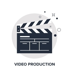video production concept vector image vector image