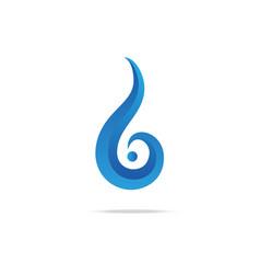 water swirl gradient logo vector image vector image