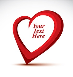 Decorative red love heart made with a copy space vector