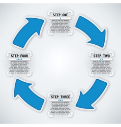 Circular Arrows - Four Steps vector image