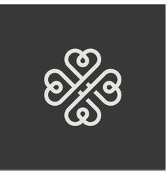 Minimalism hearts in the form of a monogram style vector