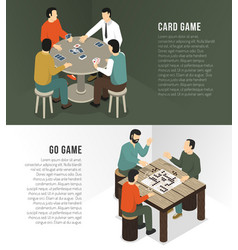board games horizontal banner set vector image