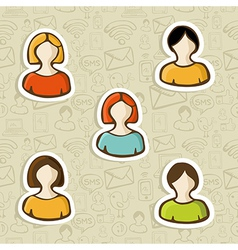 Diversity user profile icon set vector