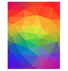 Rainbow colors abstract geometric background vector