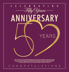 50 years anniversary background vector