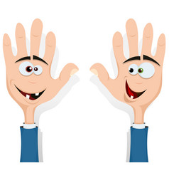 Right and left hands up vector