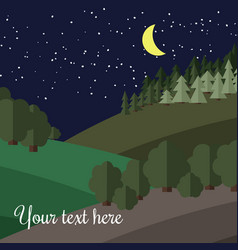 Edge of the forest at night vector
