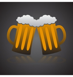 Two full glasses of beer eps10 vector