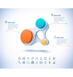 Colorful businesscircle connect vector