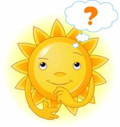 summer sun thinking vector image