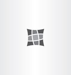 Square pillow icon design vector