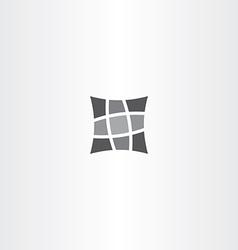 square pillow icon design vector image