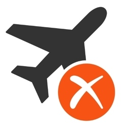 Aircraft reject icon vector